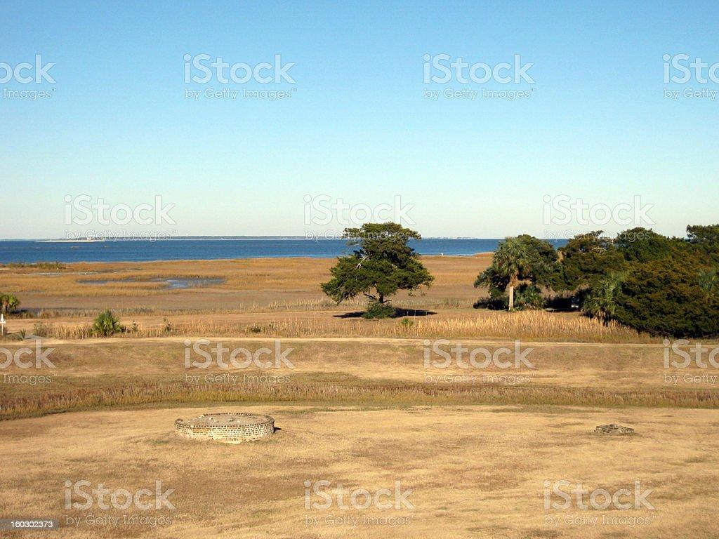 Fort Pulaski, Tybee Island and Savannah royalty-free stock photo