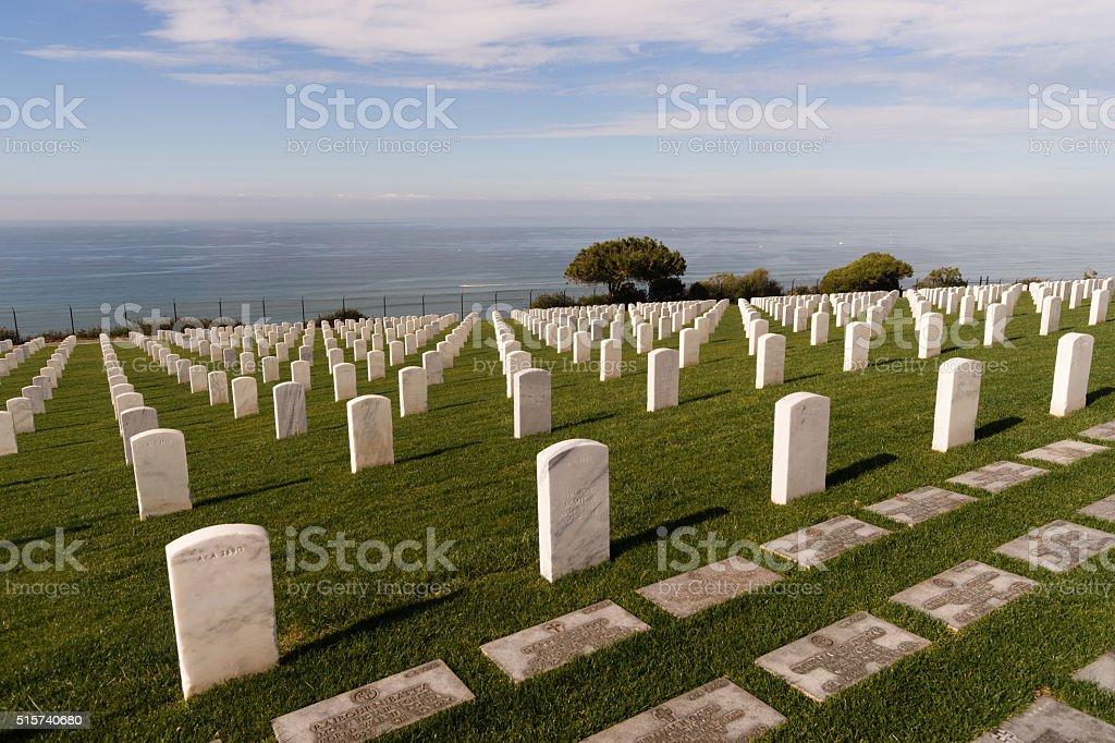 Fort Rosecrans National Cemetery Cabrillo National Monument stock photo