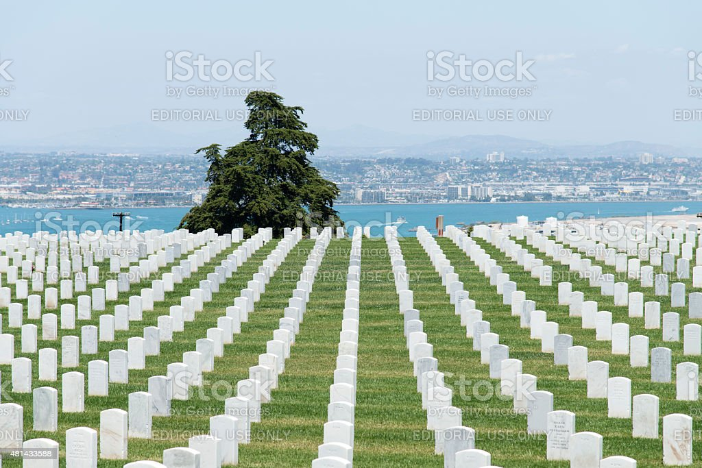 Fort Rosecrans National Cemetery stock photo