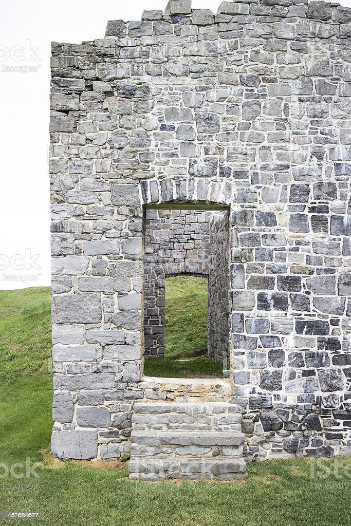 Fort Ruins Doorway stock photo