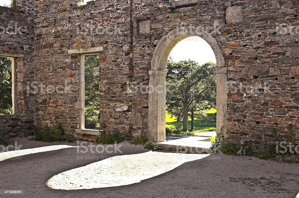 fort ruins royalty-free stock photo