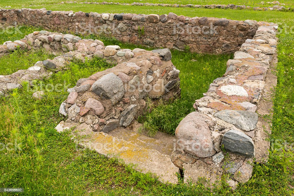 Fort Ruins stock photo