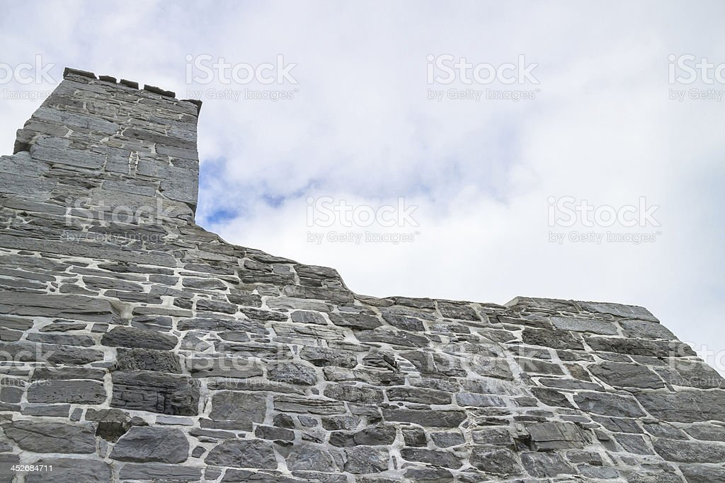 Fort Ruins Tower stock photo