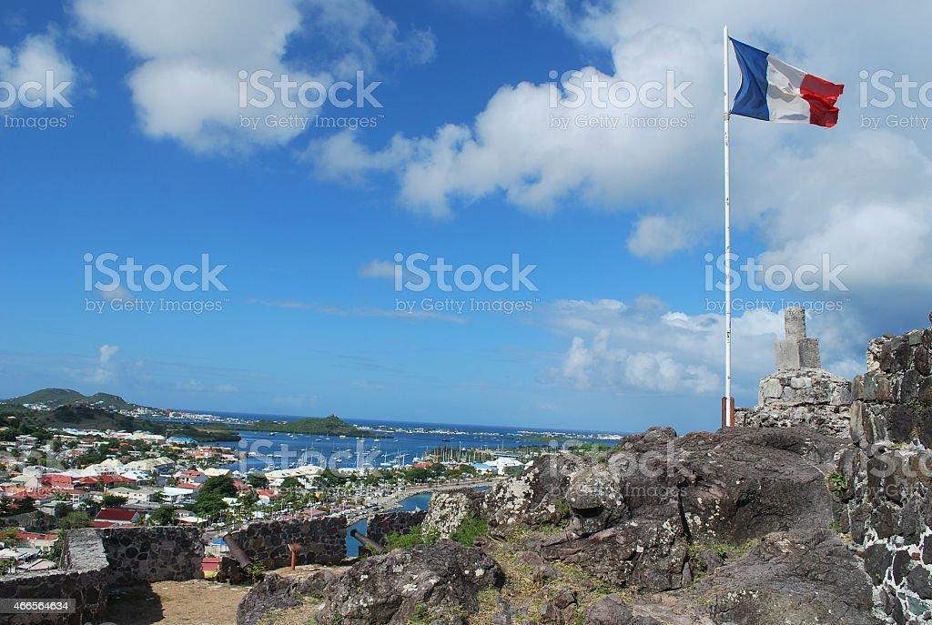 Fort Saint-Louis in Marigot, St Martin Island. stock photo