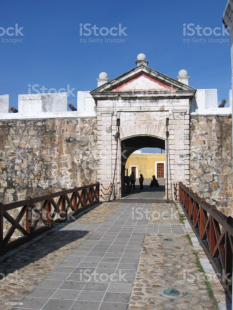 Fort San Diego entrance stock photo