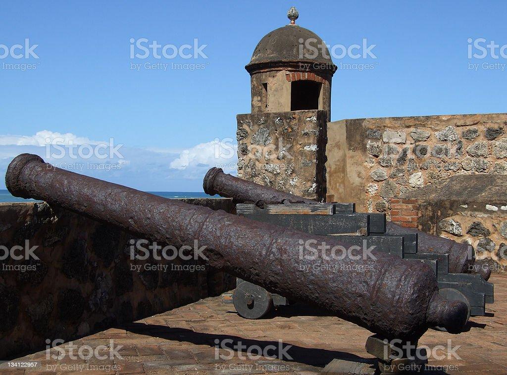 Fort San Felipe Cannons stock photo