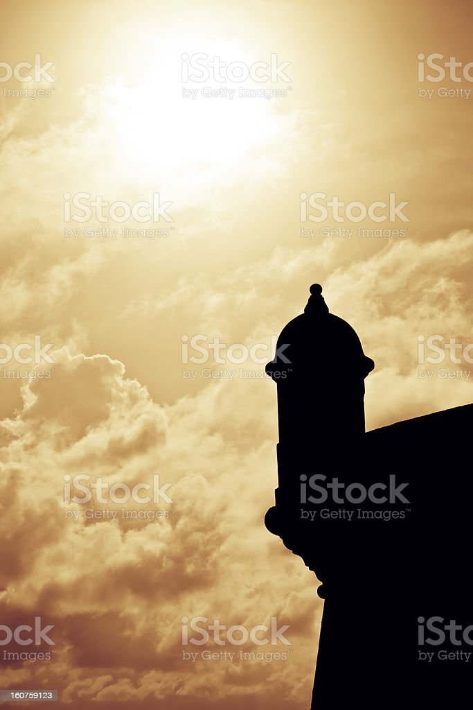 Fort San Felipe del Morro Silhouette stock photo