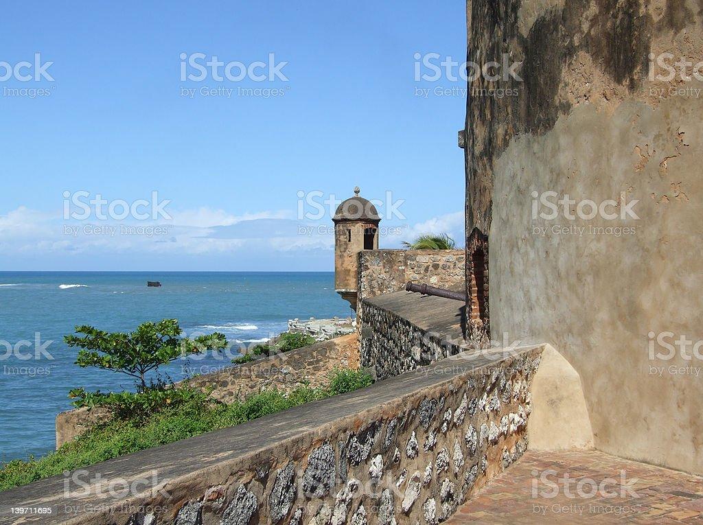 Fort San Felipe Watchtower stock photo