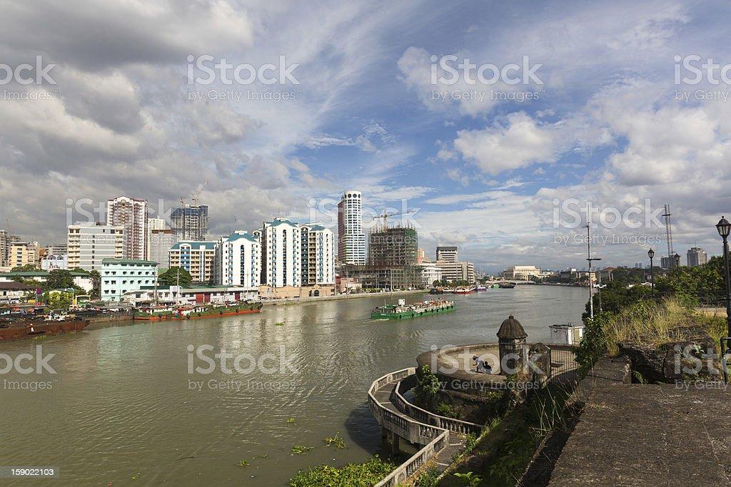 Fort Santiago, Intramuros view along Pasig River royalty-free stock photo
