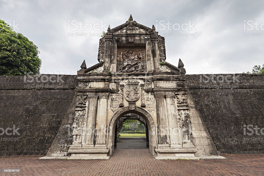 Fort Santiago stock photo