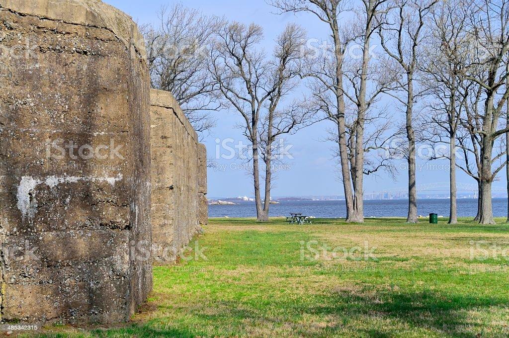 Fort Smallwood Battery Hartshorne Wall stock photo