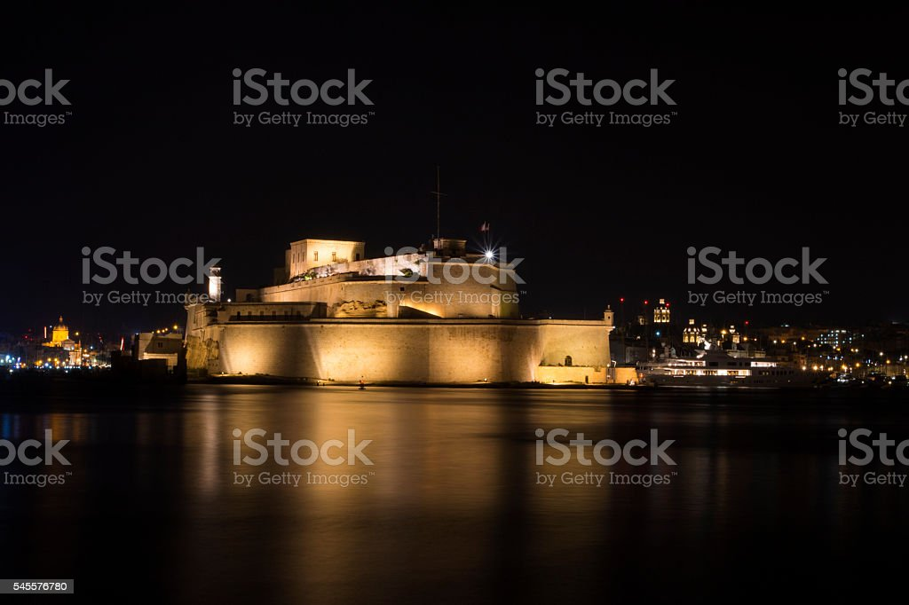 Fort St Angelo, Valletta stock photo