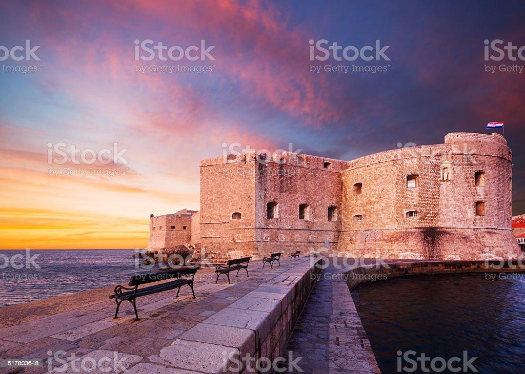 Fort St. John. Dubrovnik. Croatia. stock photo