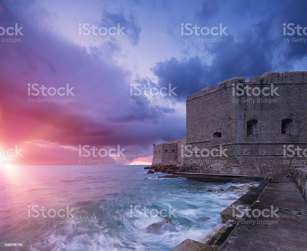 Fort St. John. Dubrovnik. Croatia. stock photo