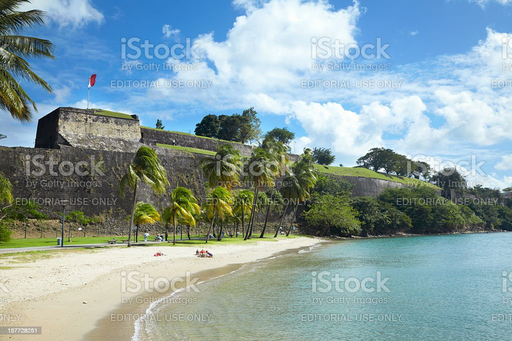 Fort St. Louis, Fort-de-France, Martinique, Caribbean royalty-free stock photo