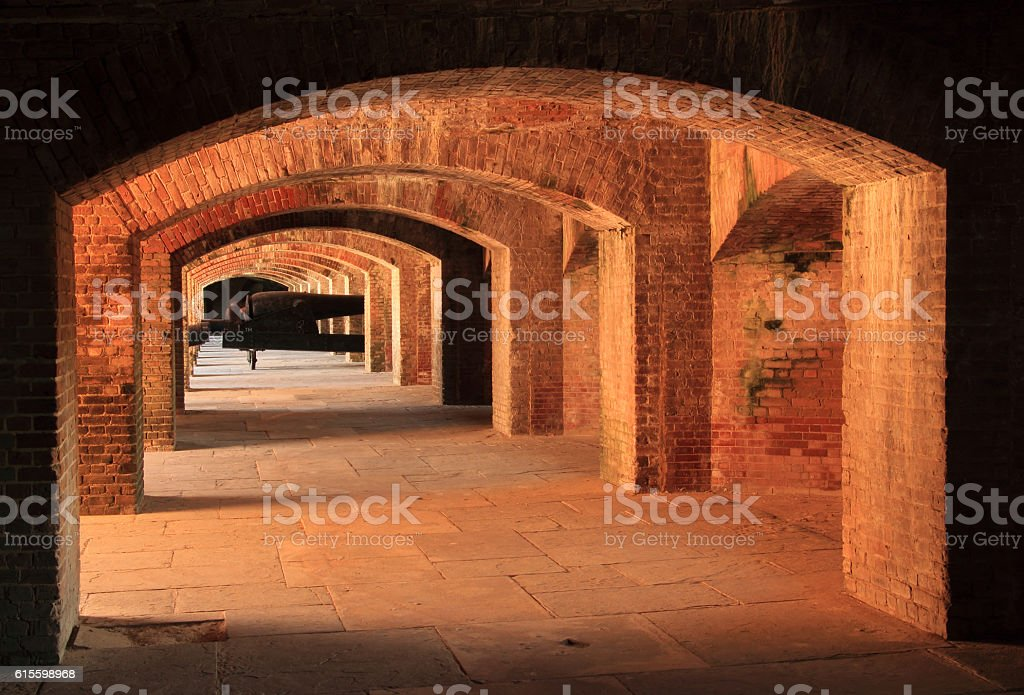 Fort Taylor Interior Architecture stock photo