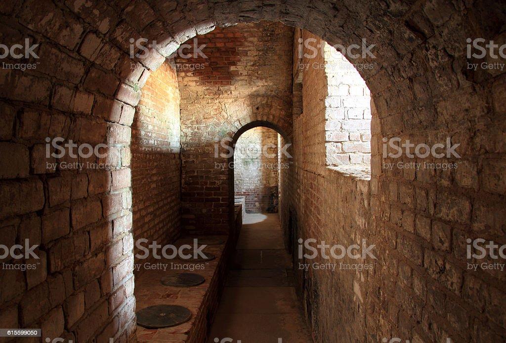 Fort Taylor Latrines stock photo