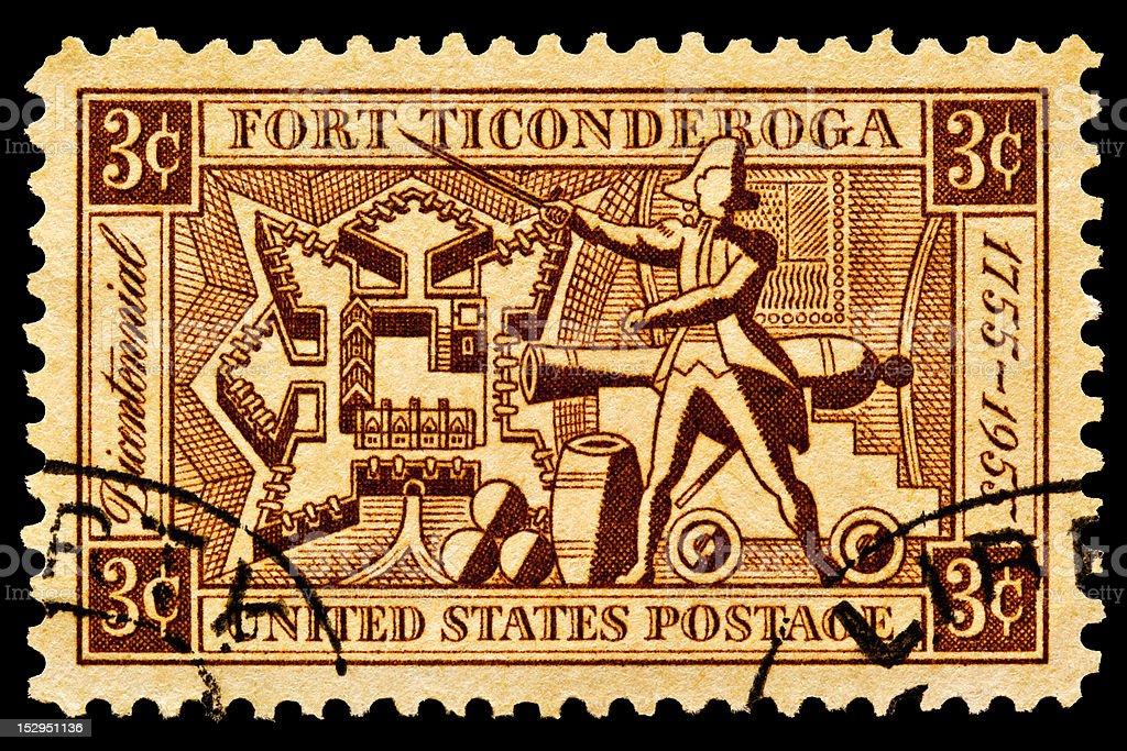 Fort Ticonderoga Postal Issue stock photo