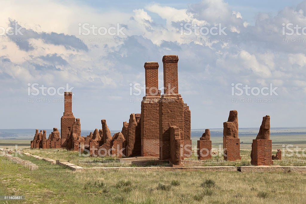 Fort Union National Monument ruins New Mexico stock photo