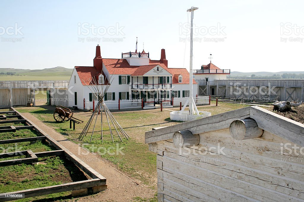 Fort Union Trading Post  National Historic Site royalty-free stock photo