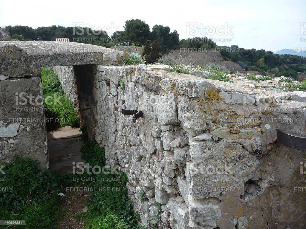Fort Vauban île Sainte-Marguerite stock photo