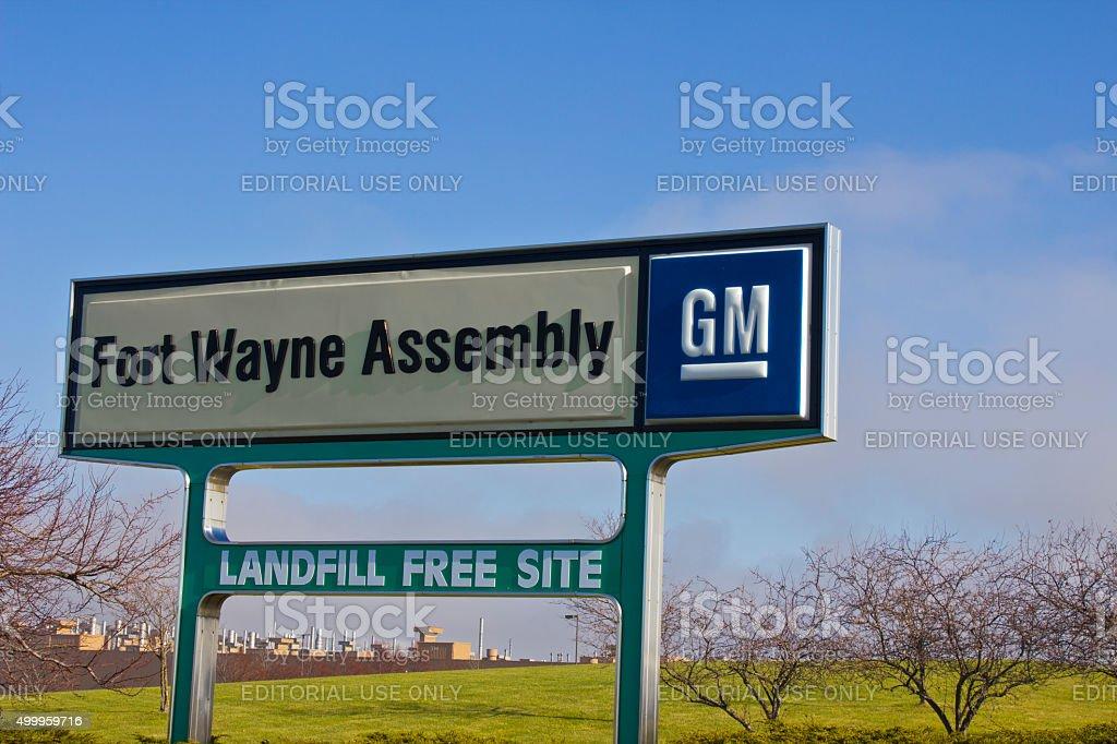 Ft. Wayne - December 2015: GM Fort Wayne Assembly Plant stock photo