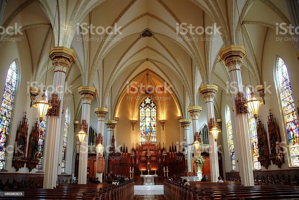 Fort Wayne Cathedral stock photo