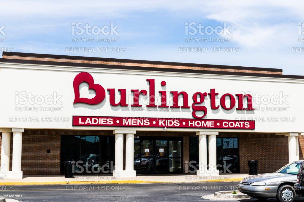 Fort Wayne - Circa April 2017: Burlington Coat Factory Strip Mall Location. Burlington is an American national off price department store retailer I stock photo