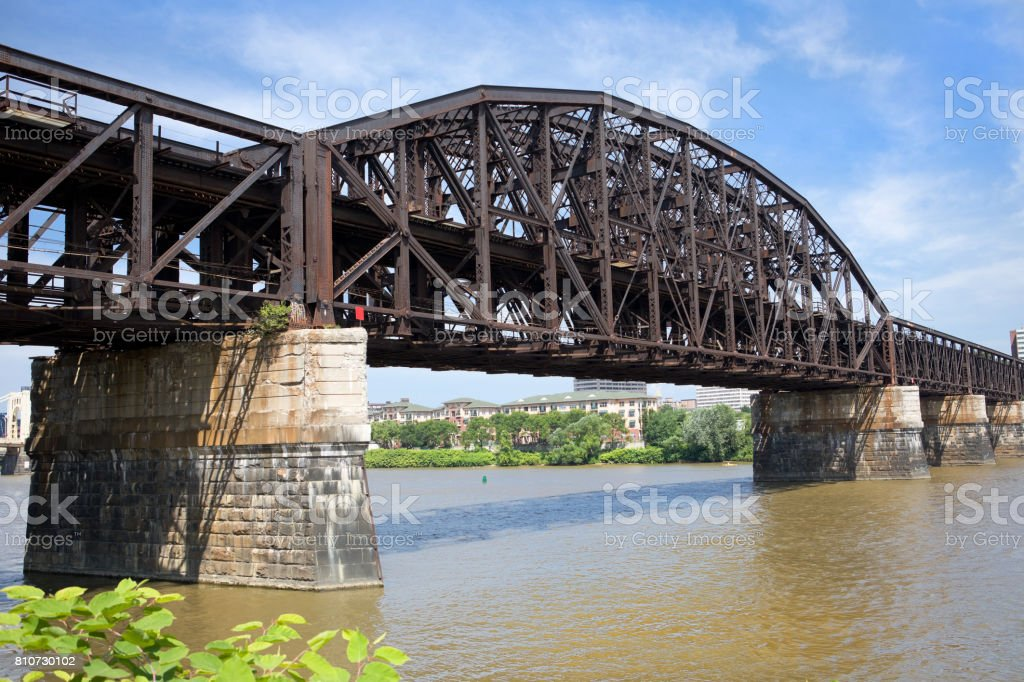 Fort Wayne Railroad Bridge in Pittsburgh, PA stock photo