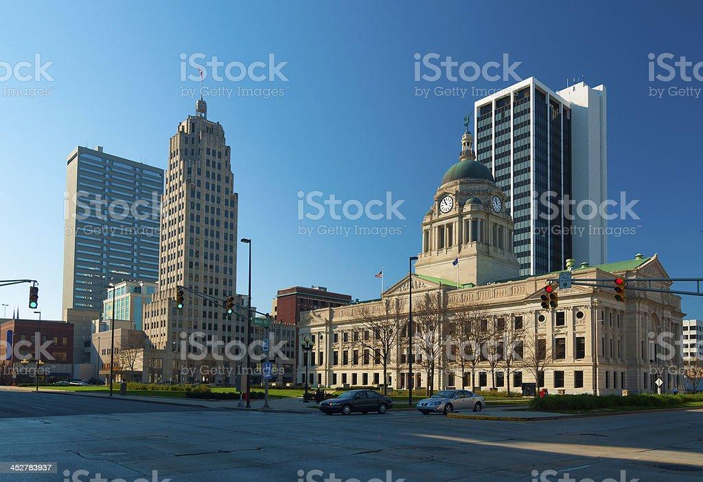 Fort Wayne skyline stock photo