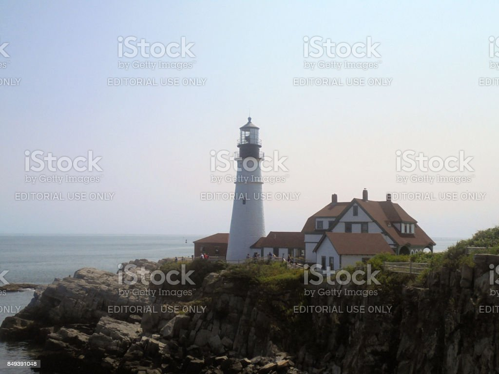 Fort Williams Lighthouse Park stock photo