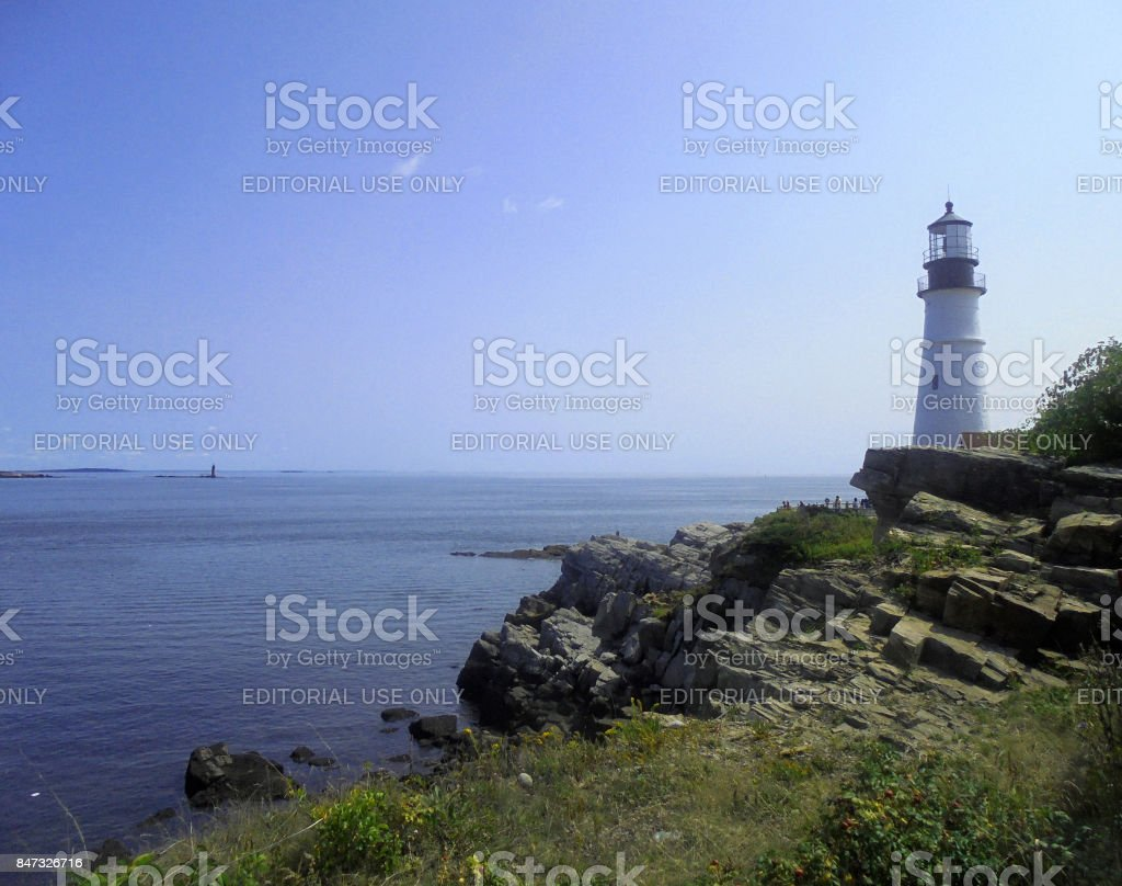 Fort Williams Lighthouse stock photo