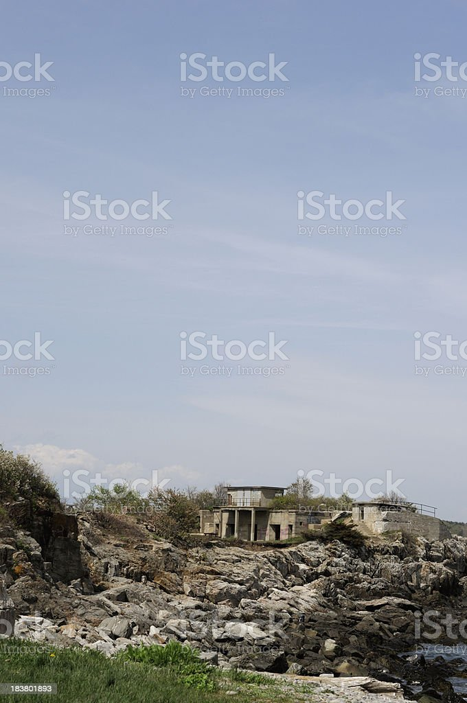 Fort Williams, Portland maine stock photo