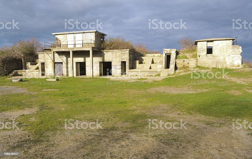 Fort Williams ruins stock photo