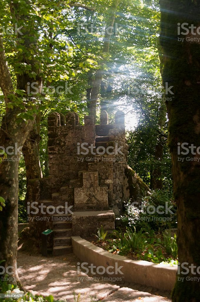 Fort within the Forest royalty-free stock photo