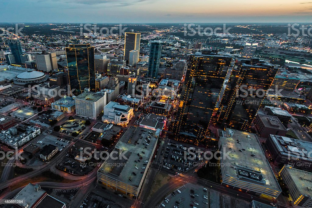 Fort Worth Aerial Cityscape 1 stock photo
