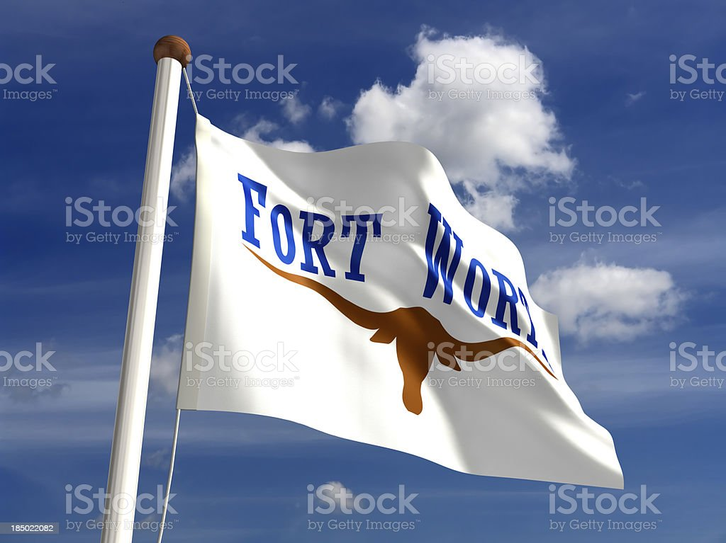 Fort Worth City Flag stock photo