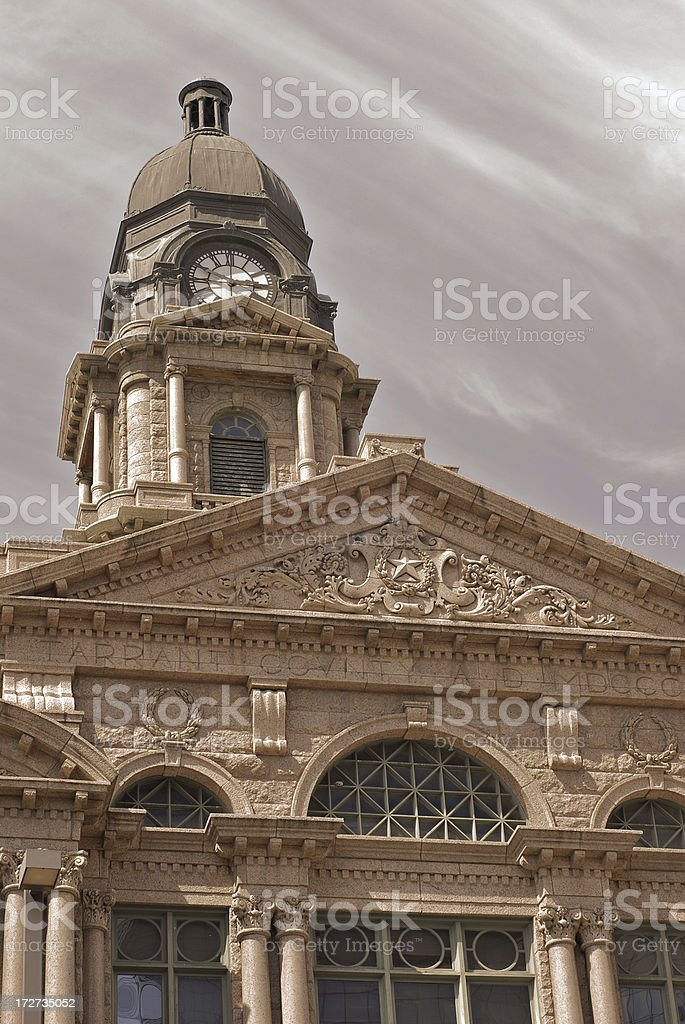 Fort Worth Courthouse royalty-free stock photo