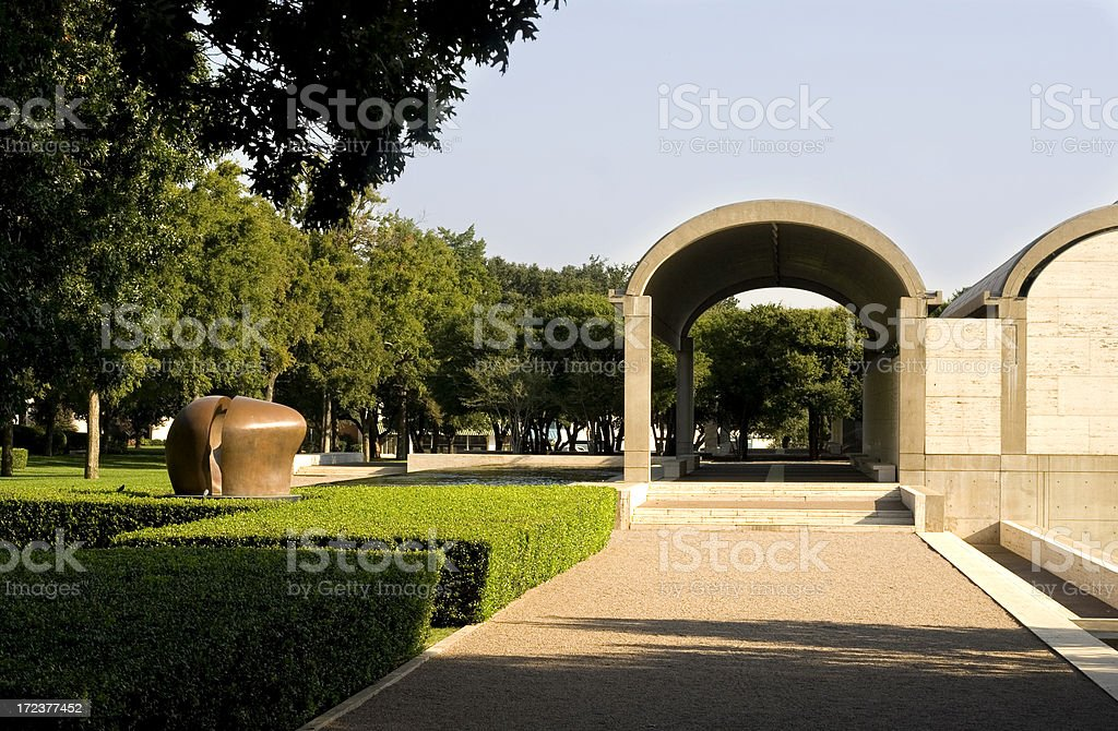 fort worth cultural district royalty-free stock photo