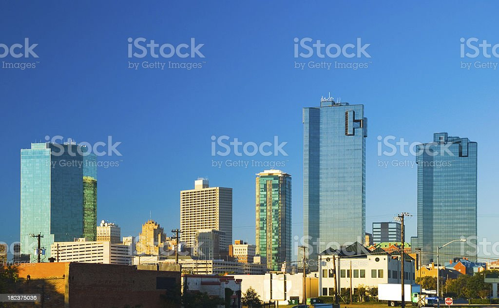 Fort Worth Downtown skyline stock photo
