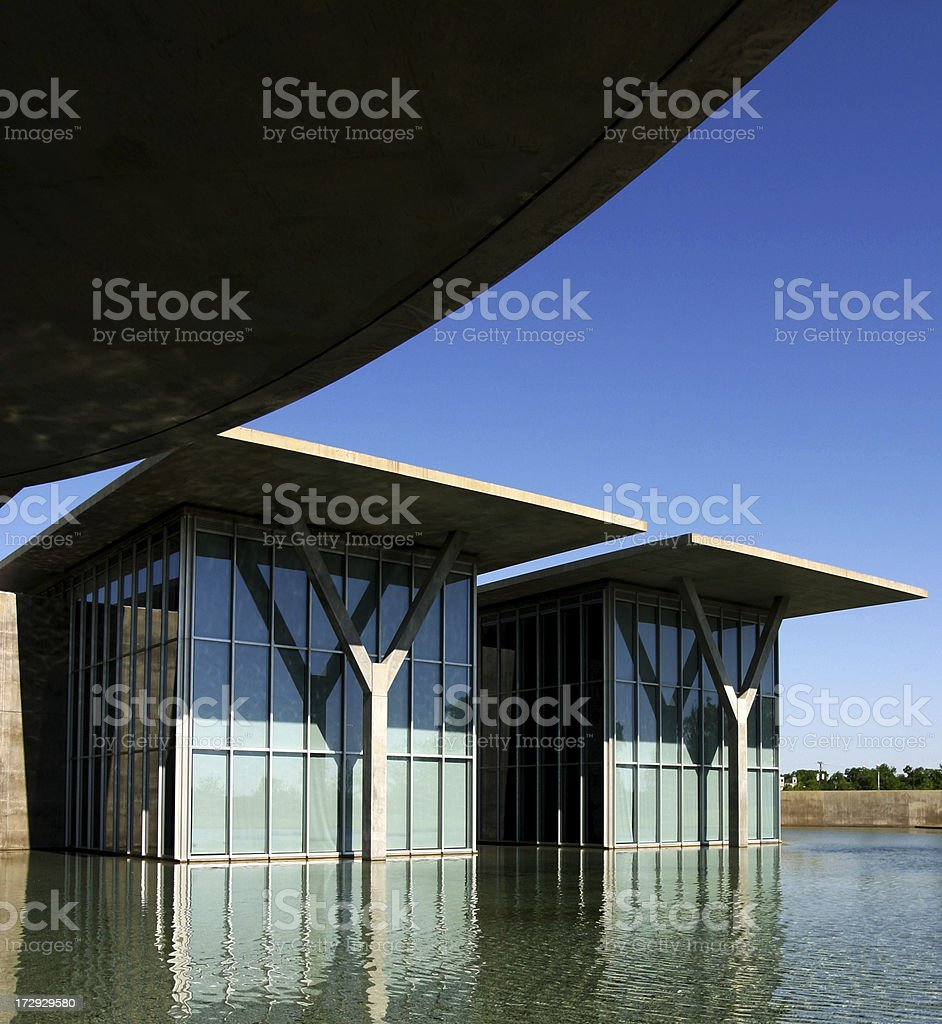 Fort Worth Modern Art Museum royalty-free stock photo