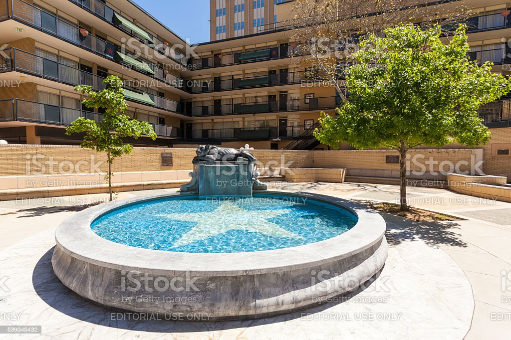 Fort Worth Panther fountain stock photo
