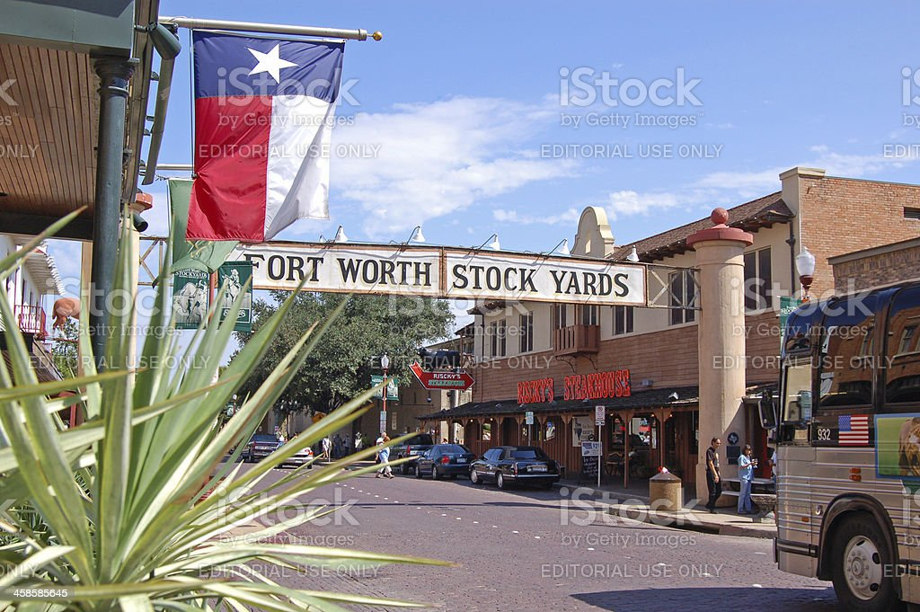 Fort Worth Stock Yards stock photo