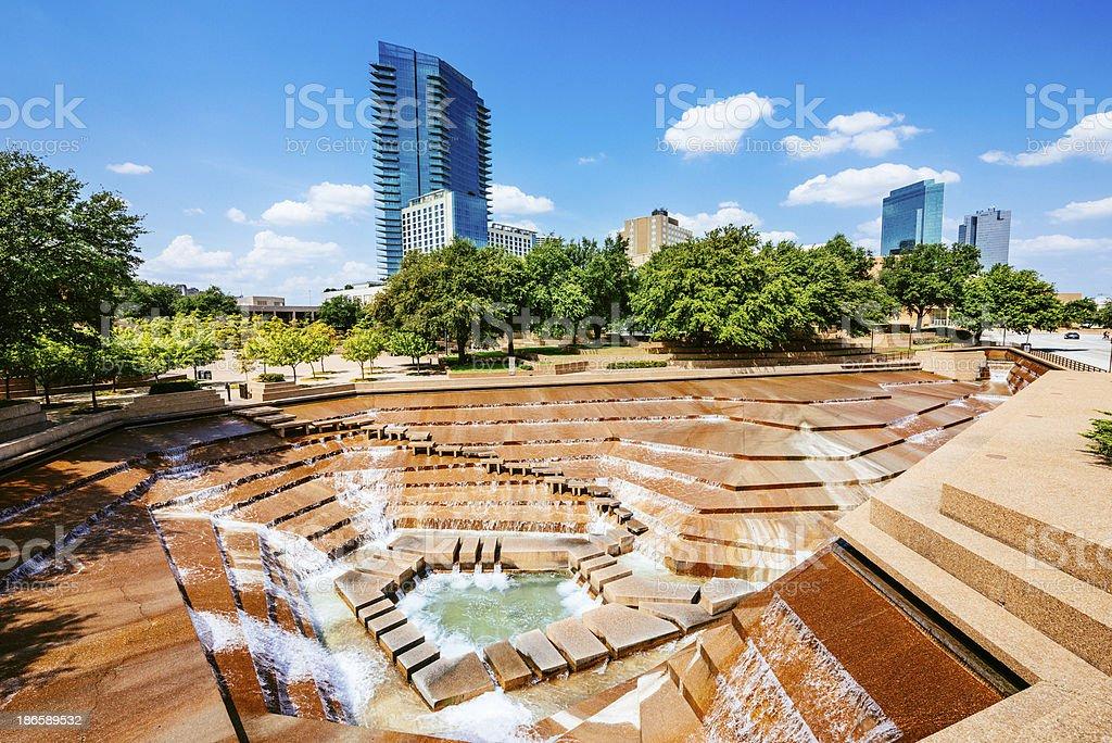 Fort Worth Water Gardens Texas stock photo