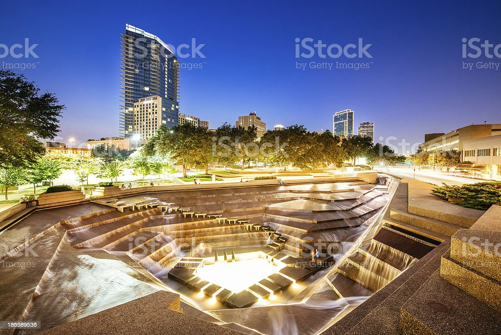 Fort Worth Water Gardens Texas stock photo