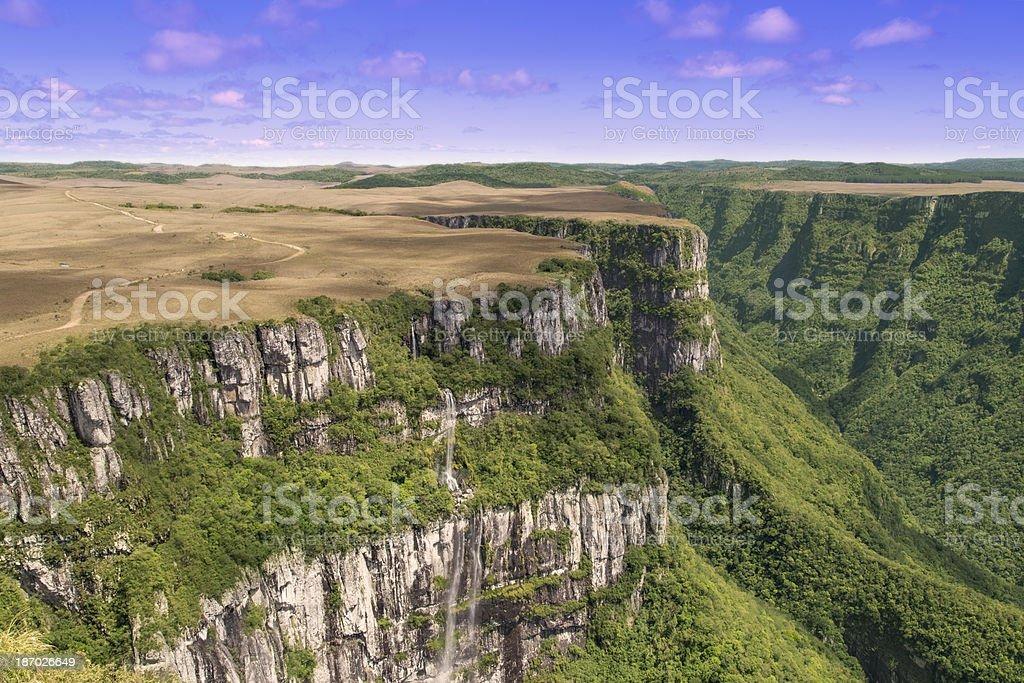 Fortaleza canyon in Brazil royalty-free stock photo