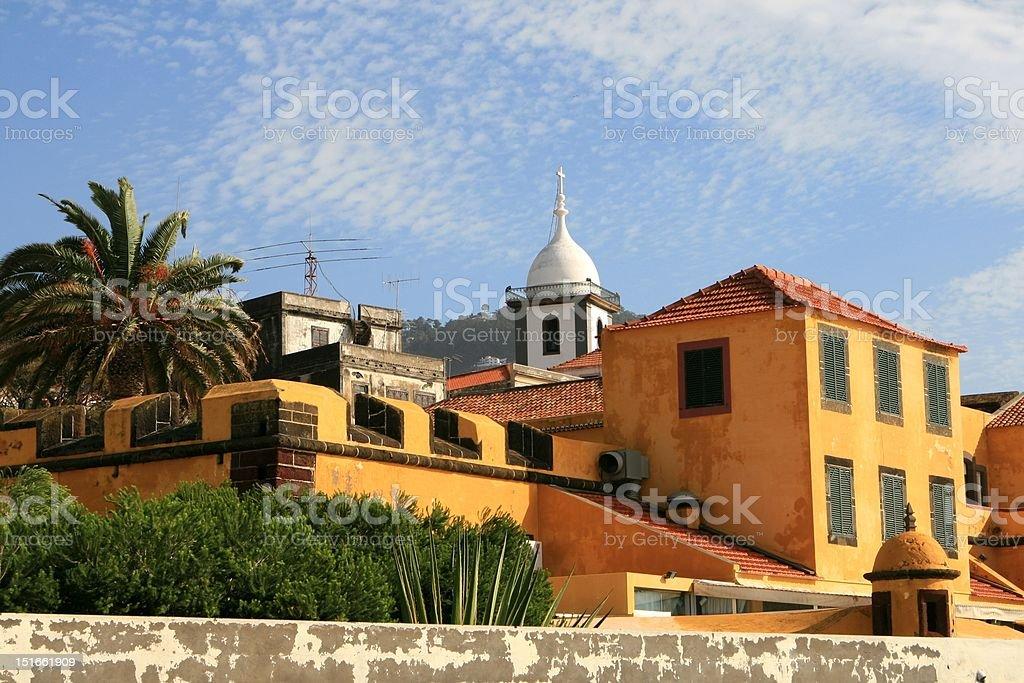 Fortaleza de S?o Tiago in Funchal, Madeira royalty-free stock photo