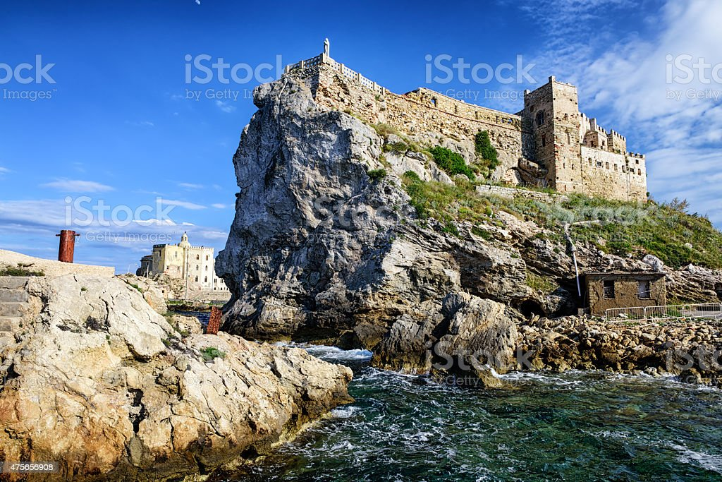 Forte Teglia on the Island of Pianosa in  Italy stock photo