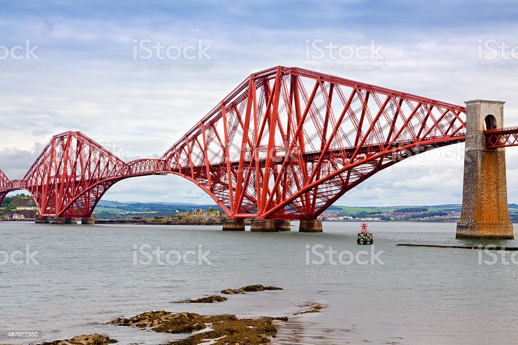 Forth Bridge, Edinburgh, Scotland, United Kingdom. stock photo
