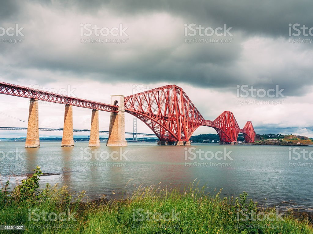 Forth Bridge stock photo
